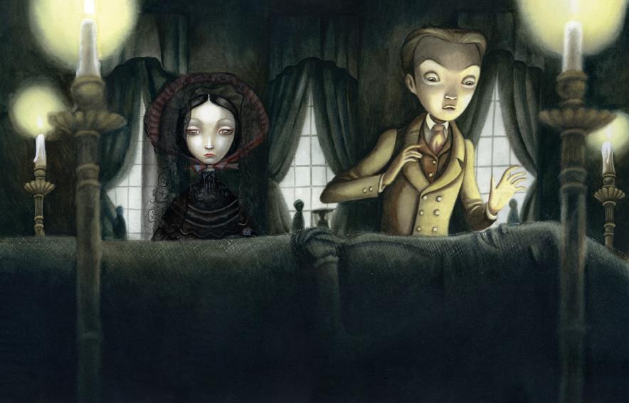 Cuentos macabros, de Edgar Allan Poe. Ilustraciones de Benjamin Lacombe –  La estantería de Núria – Reseñas de libros
