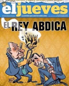 El rey abdica (portada censurada)