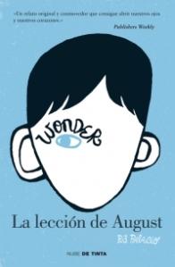 Wonder la lección de August - cubierta